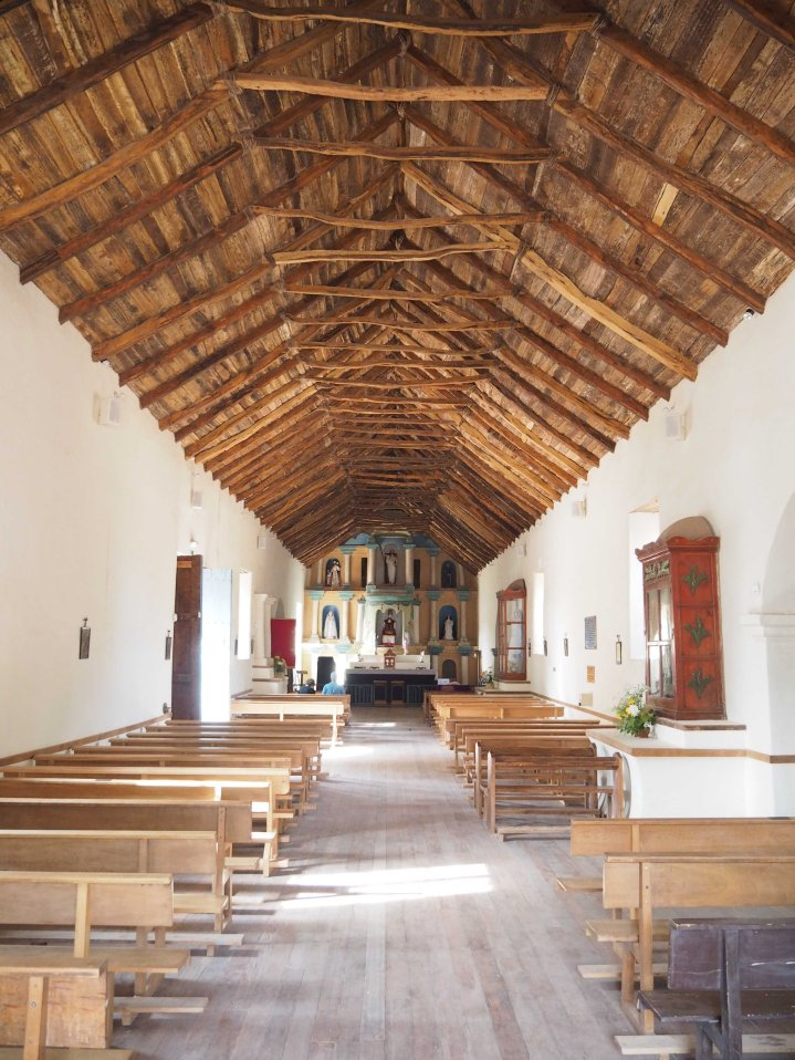 The roof of the church is made with cactus wood